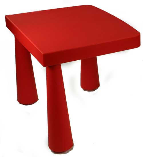 Table with just 3 legs