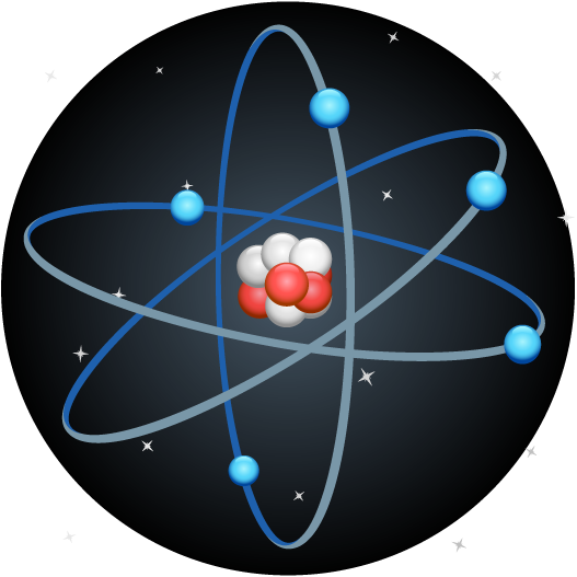 an atom in vibration