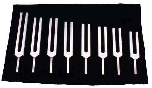 Set of 8 Harmony tuning forks